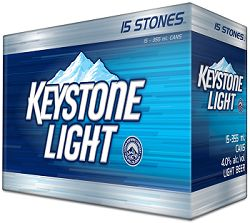 Keystone Lager - Light - 15Pk can - Save $2.25