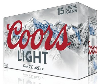Coors Light Beer - 15Pk can - Save $2.35
