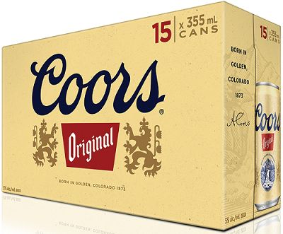 Coors Original Beer - 15Pk can - Save $2.45