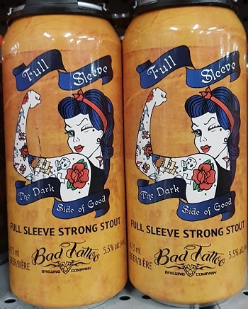 Bad Tattoo Brewing - Full Sleeve Strong Stout - 4x473ml - Save $1.05