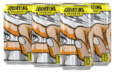 Jaw Drop Vodka Coolers - Squirting Oranges - 6Pk can