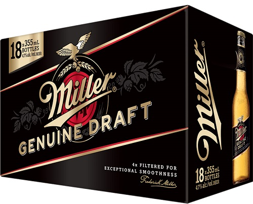 Miller Genuine Draft Lager - 18PB - Save $3.00