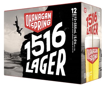 Okanagan Springs - 1516 Lager - 12Pk can - Save $4.00