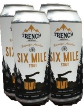 Trench Brewing - Six Mile Stout - 4x473ml - Save $1.00