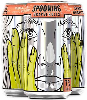 Jaw Drop Vodka Coolers - Spooning Grapefruits - 6Pk can