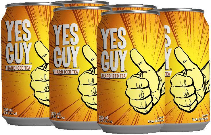 Yes Guy Hard Vodka Iced Tea - 6Pk can
