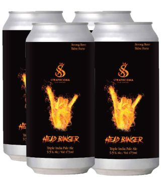 Strathcona Brewing - HeadBanger Triple IPA - 4x473ml - Save $1.35