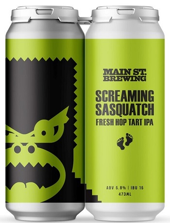 Main Street Brewing - Screaming Sasquatch Fresh Hop IPA - 4x473ml - Save $1.60