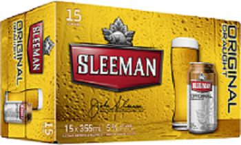 Sleeman Brewing - Original Draught - 15Pk can - Save $4.00