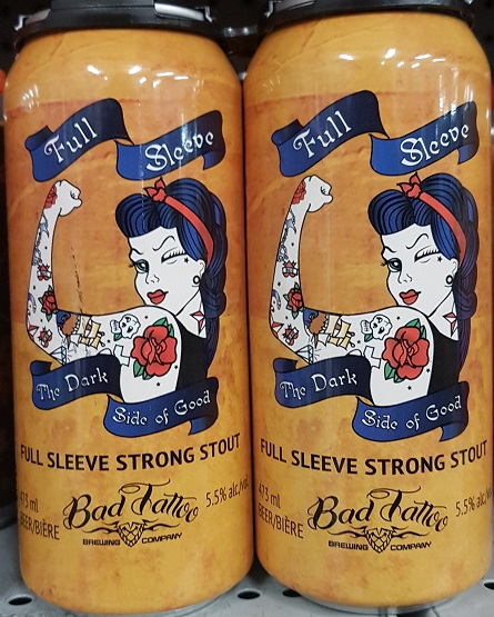 Bad Tattoo Brewing - Full Sleeve Strong Stout - 4x473ml - Save $1.00