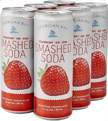 Georgian Bay Smash Soda - Strawberry/Gin/Soda - 6Pk can - Save $2.60