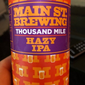 Main Street Brewing - 1000 Mile Hazy IPA - 4x473ml - Save $2.75