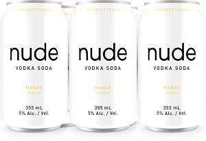 Nude Vodka Soda - Mango - 6Pk can - Save $3.75