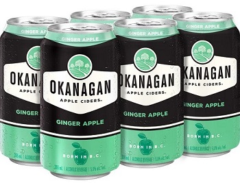 Okanagan Cider - Ginger Apple - 6Pk can - Save $2.00