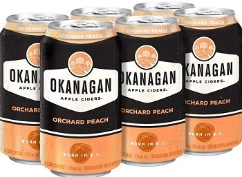 Okanagan Cider - Orchard Peach - 6Pk can - Save $2.00