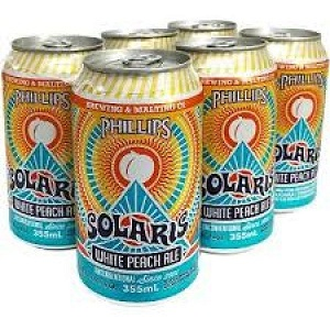 Phillips Brewing - Solaris Peach Ale - 6x355ml - Save $1.00