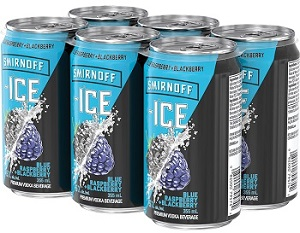 Smirnoff Ice Vodka Cooler - Black Raspberry/Blackberry - 6Pk can - Save $1.00
