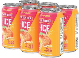 Smirnoff Ice Vodka Cooler - Peach/Mango - 6Pk can - Save $1.00