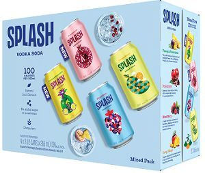 Splash Sparkling water Mixer Pack - 12Pk can - Save $3.00
