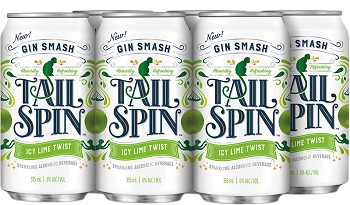 Tail Spin Gin Cooler - Icy Lime - 6Pk can - Save $1.65