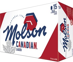 Molson Canadian Beer - 15Pk can