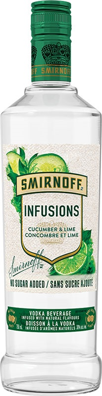 Smirnoff Vodka Infusions - Cucumber/Lime - 750ml - Save $1.60