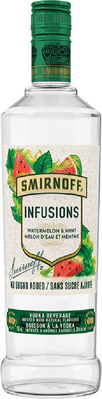 Smirnoff Vodka Infusions - Watermelon/Mint - 750ml