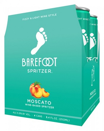 Barefoot Spritzers - Moscato - 4Pk