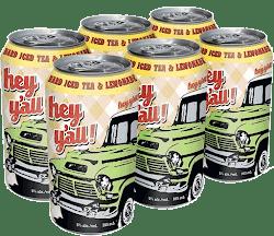 Hey Y'all Hard Tea - Tea & Lemon - 6x355ml