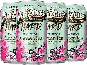 Arizona Hard Tea - Green Tea - 6Pk - Save $1.65