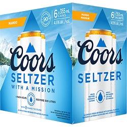 Coor's Vodka Seltzer - Mango - 6Pk - Save $4.90