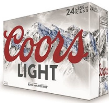 Coor's Light - 24Pk - Save $ 6.00