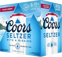 Coor's Vodka Seltzer - Black Cherry - 6Pk - Save $4.90