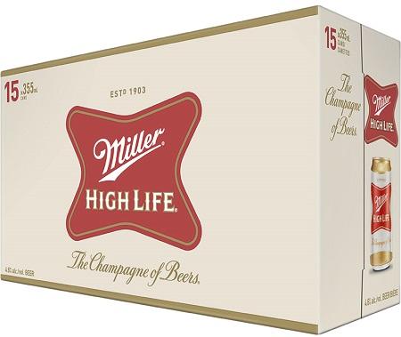 Miller High Life - 15Pk - Save $2.25