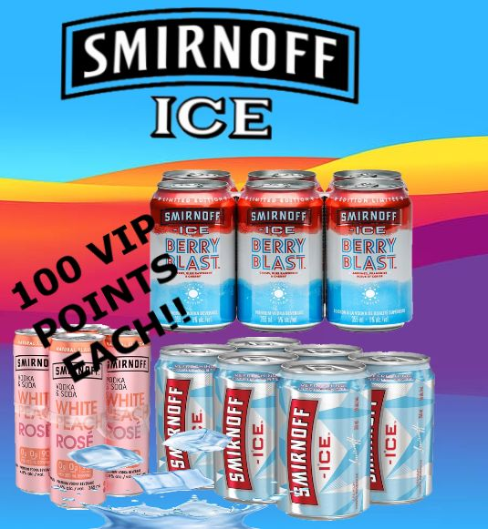 Smirnoff Ice, Berry Blast & White Peach Soda - 4 & 6Pk
