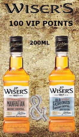 Wiser's Manhattan & Old Fashion Cocktails - 200ml
