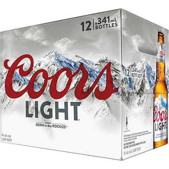 Coors Light - Lager - 12x341ml - Save $4.00