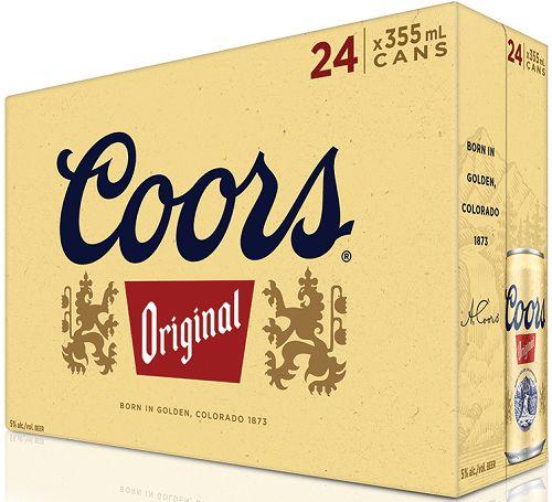 Coor's Original - 24x355ml - Save $6.15