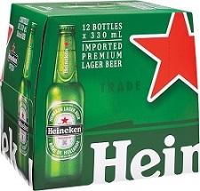 Heineken Lager - 12x341ml - Save $7.00
