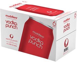 Muddler's - Vodka Punch - 6x355ml - Save $1.90