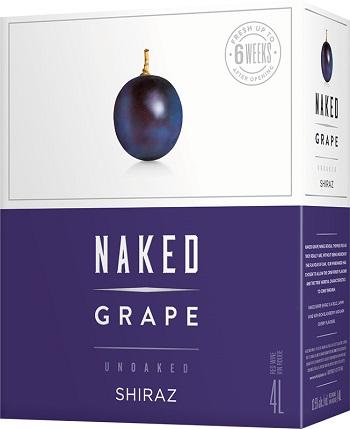 Naked Grape Wine - Shiraz - 4L - Save $4.25