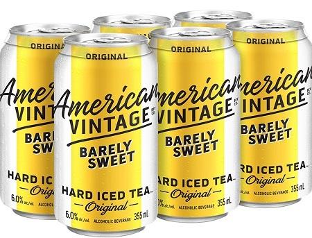 American Vintage Tea - Barely Sweet - 6x355ml