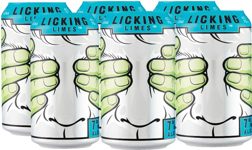Jaw Drop Coolers - Licking limes - 6x355ml